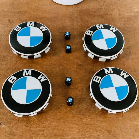 BMW Logo Emblem Wheel Center Caps & Tire Valves